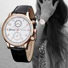 Fashion Womens Formal Watches Leather Stainless Steel Quartz Analog Wrist Watch