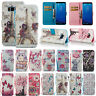 Fr Galaxy Phone Bling Diamond Leather Case Magnetic Flip Stand Card Wallet Cover