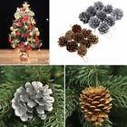 NEW 9PCS Christmas Gold Silver Pine Cones Baubles Xmas Tree Decorations Ornament