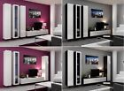 BMF VIGO 2 TV WALL UNIT WITH VERTICAL SLIM CABINETS MEDIA SET HIGH GLOSS FRONTS