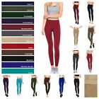 Women Fleece Lined Leggings Casual Thick Winter Thermal Stretch Solid Color Pant