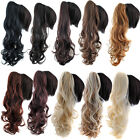 Big Women Curly Synthetic Hair Pony Tail Claw Clip in Hair Extension Ponytail