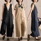 ZANZEA Women Loose V Neck Jumpsuit Strap Dungaree Trousers Casual Overall Pants