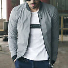 US New Men Fashion Casual Jacket Warm Winter Baseball Coat Slim Outwear Overcoat