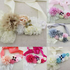 Pearls Flower Lace Girls Sash Belt Maternity Bridal For Wedding Photography Prop