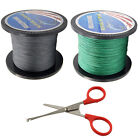 1000M PE Braided Fishing Line 15LB-100LB Strong Multifilament Line with scissors