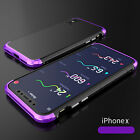 Metal Ultra Thin Luxury Shockproof Armor Aluminum Case Cover For iPhone 10 X