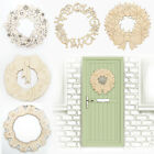 Christmas WREATHS Decoration -Multiple Welsh LaserCut Plywood Wall Door Art Xmas