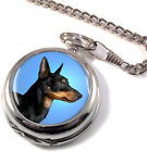 English Toy Terrier (Black & Tan) Full Hunter Pocket Watch (Optional Engraving)
