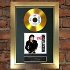 GOLD DISC MICHAEL JACKSON Bad Signed CD Mounted Repro Autograph Print A4 104