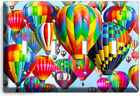 VIBRANT HOT AIR BALLOONS LIGHT SWITCH OUTLES WALL PLATE TRAVEL AGENCY ROOM DECOR