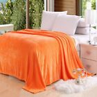 Super Soft MicroWarm  Plush Fleece Blanket Solid Colors Throw Rug Sofa Bedding image