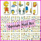 Water decals transfer the Simpson cartone stickers adesivi disney unghie nail