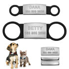 Custom Dog Tags for Pets ID Tag Slide-On Dog Collar for Small Medium Large Dogs