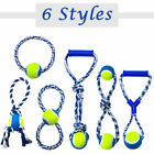 Braided Rope Interactive Dog Toys & Tennis Ball Toy Durable for Pet Dog Chews