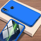 For Huawei Honor 9 8 10 Lite 360° Full Protect Hybrid Case+Tempered Glass Cover