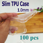 Pack 100 New Clear Rubber TPU Soft Gel Case Cover for iPhone Models 8 7 6 Plus 5