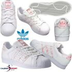 SCARPA SUPERSTAR DONNA ADIDAS BY2951 BIANCO ROSA SNEAKER