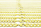 "10K Solid Yellow Gold 2mm-12mm Cuban Curb Link Chain Bracelet Men/Women 7"" 8"" 9"" image"