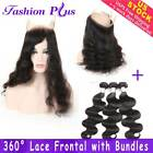 9A 360 Lace Frontal Closure with Bundles Brazilian Body Wave Virgin Human Hair