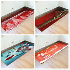 Christmas Pattern Home Decor Non-Slip Bathmat Anti Slip Carpet Bathroom Rugs NEW