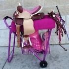 English Or Western Show Rolling Saddle Stand Rack Stack Haul w/tack basket
