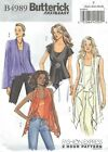 Butterick 4989 Misses' Tops and Camisole   Sewing Pattern