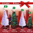 Pre-Lit Fiber Optic 3'/4'/5'/6/7/8' Christmas Green/White Tree Multi-Color Light