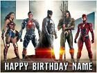 The Justice League Personalised Rectangle Peel Off Icing Cake Topper | 3 Sizes