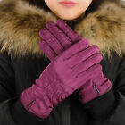 Womens Warm Gloves Waterproof Winter Touch Screen Gloves Fleece Lining Casual US