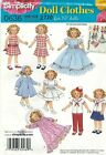 "Simplicity 2770 Wardrobe of 19"" Dolls   Sewing Pattern"