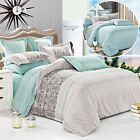 Reversible Duvet Quilt Cover with Pillow Cases Bedding Set Double King Size