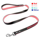 Elegant Braided Padded Leather Dog Leads Durable Pet Leash for Small Medium Dogs