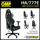 HA/777E OMP RACING SEAT WHEELED OFFICE CHAIR SEAT ON WHEELS inc BASE!