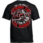 T Shirt Biker Rocker Tattoo Cruiser Skull Motorcycle no Harley USA Retired funny image