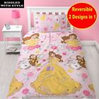 Childrens Disney Princes Tale As Old As Time Reversible Single Duvet Bedding Set