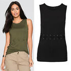 Fashion Women Summer Casual Vest Top Sleeveless Lace Blouse Tank Tops T-Shirt DA