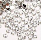 Clear -- Resin Flatback Rhinestones Assorted 14 cut High Quality 2 3 4 5 6 mm
