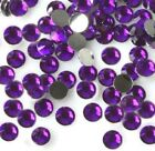 Purple --  Resin Flatback Rhinestones High Quality 2 3 4 5 6 mm choose size