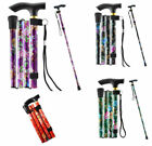 Adjustable Light Weight Aluminium Folding Walking Stick Cane FAST & FREE DELIVER