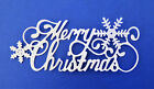 Merry Christmas Title Phrase Intricate Die Cut 4 Pc Scrapbooking Embellishment