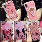 Cute Cartoon Bling Sparkle Glitter Soft Gel Case Cover For iPhone X 6S 7 8 Plus