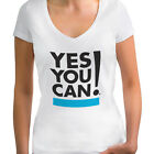 Yes you can Women's V-Neck Shirt