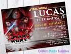 Star Wars Episode 8 Birthday Party Invites Invitation Personalised the last jedi $1.0 AUD
