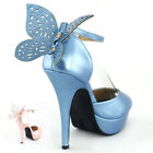 Butterfly Peep Toe Ankle Strap Stiletto Wedding Pump Sandals
