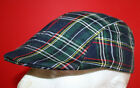 mens flat cap tartan look,navy blend, 59 cm Large- One size fits all (Free size)