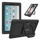 Shockproof Case Cover w/ Grip Stand for All-New Amazon Fire HD 10 7th Gen, 2017