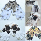 Winter Warm Boys Girls Kids Animal 3D Print Tiger Lion Knitted Gloves Gift 1Pair