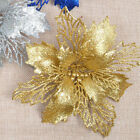 1pc  Artificial Glitter Christmas Flower Ornaments Tree Decoration Celebrations