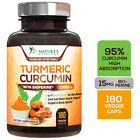 Turmeric Curcumin Highest Potency 95% 1950mg with Bioperine Black Pepper Extract